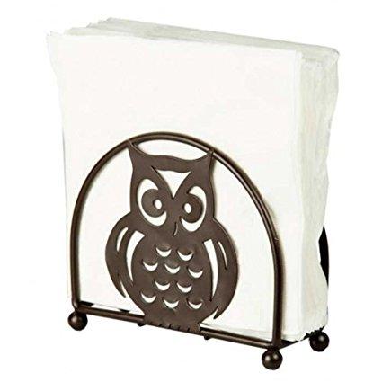 Home Basics Owl Napkin Holder, Bronze