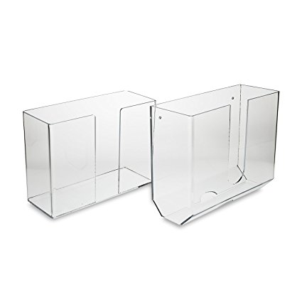 Source One LLC Deluxe Clear Acrylic Dual-Dispensing Paper Towel Holder Wall Mount & Counter Top Options Available (1, Wall Mount)