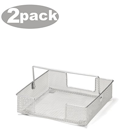 Ybm Home Napkin Holder Basket, Mesh, Silver 1138 (2)